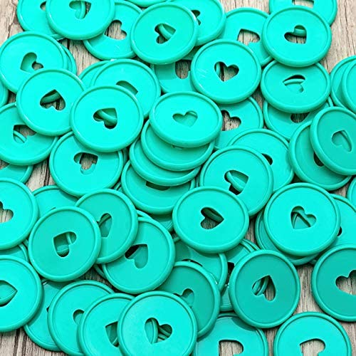 Clips 12PCS Notebook Binding Discs Mushroom Hole Disc Binder Notepad Ring Buckle Plastic Loose-Leaf Disc Bound Coil Button Binders - (Color: Green)