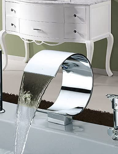 ZQ Character design style Bathtub Faucet - Contemporary - Waterfall / Sidespray - Stainless Steel (Chrome)