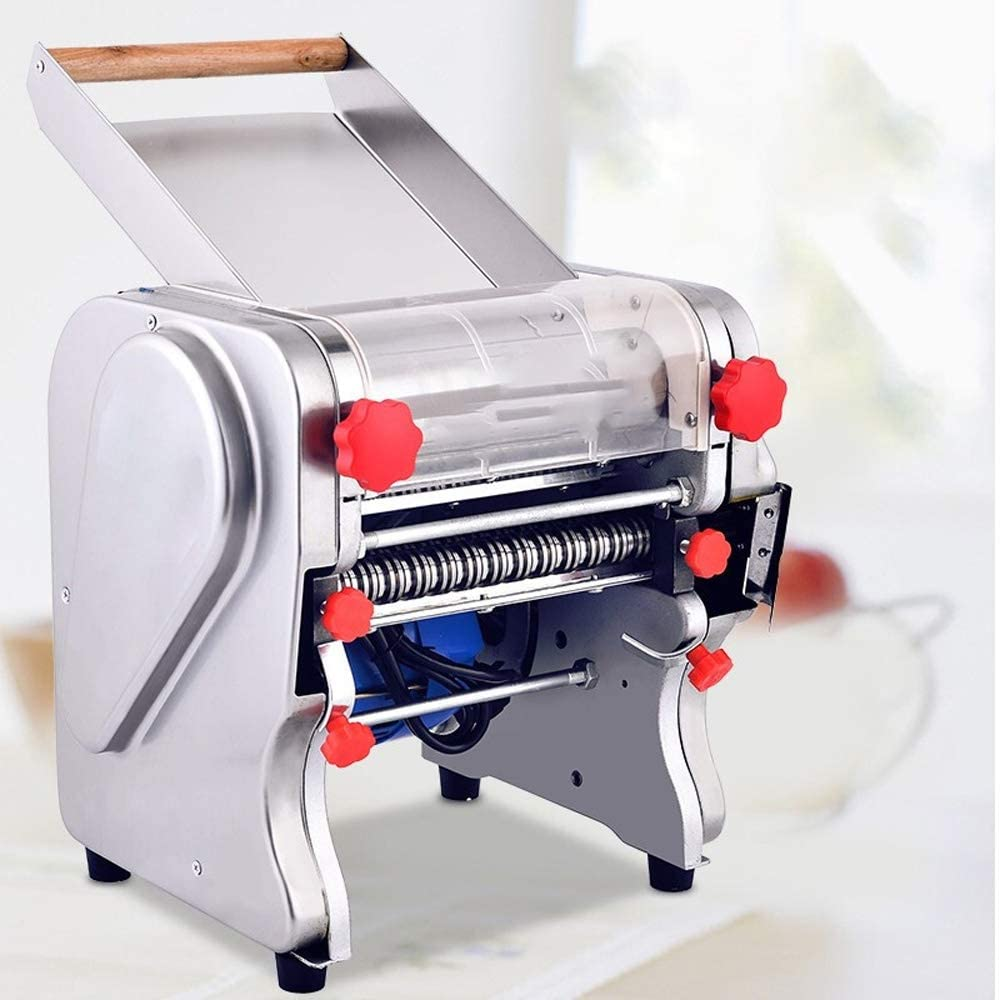 PUEEPDEE Pasta Machine Noodle Machine Household Stainless Steel Press Commercial Small Automatic Noodle Machine Manual Pasta Makers (Color : Silver, Size : 34X31X36cm)