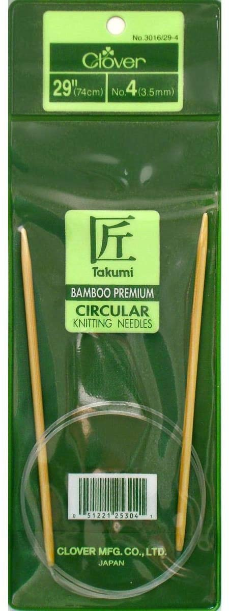 Clover Bamboo Circular Knitting Needle 29-Size 4