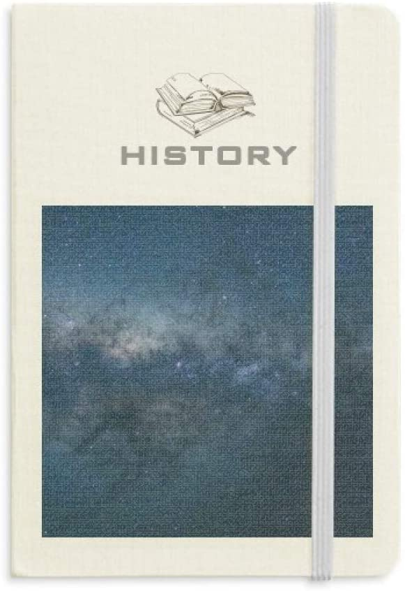 Dark Galaxy Blue Stars Clouds History Notebook Classic Journal Diary A5