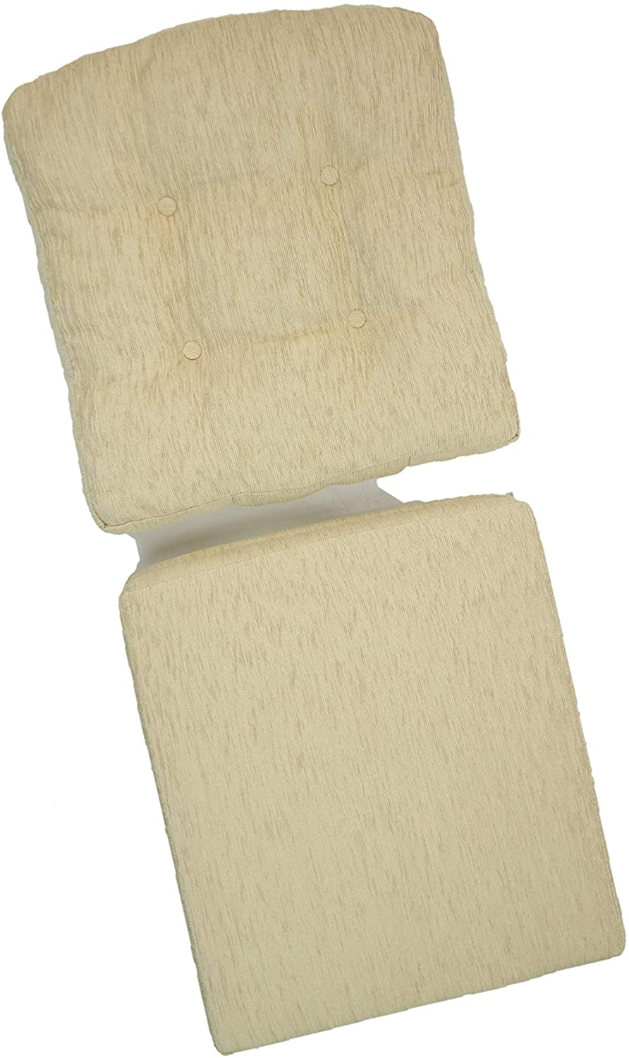 Set of 2 Cushion for Lounge Chair (only Cushions), Cream