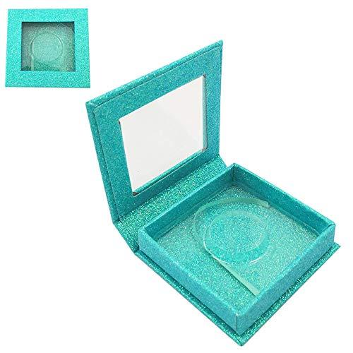 10pcs Fake Eyelashes Packaging Box Fake 3D Mink Eyelashes Box Artificial Ribbon Box Empty (N)