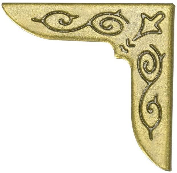 uxcell Metal Book Corner Protectors Edge Cover Guard 25 X 25 X 6mm Bronze Tone 100pcs