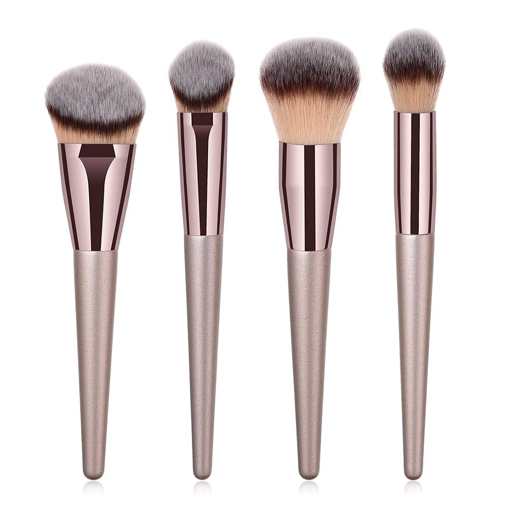BBL 4pcs Makeup Brush Set, Premium Durable Kabuki Makeup Brush Perfect For Blending Liquid,Cream and Flawless Powder,Buffing, Blending,Concealer