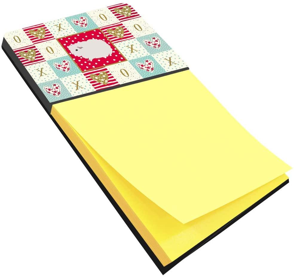 Caroline's Treasures CK5430SN Merino Guinea Pig Love Sticky Note Holder, Large, Multicolor