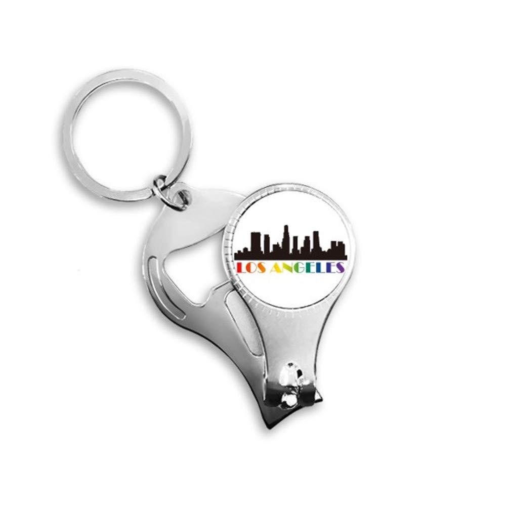 Same-sex slogans love in the city Los Angeles car keys, multi-purpose nail knife, metal nail clipper ring, bottle opener, GIFT PENDANT