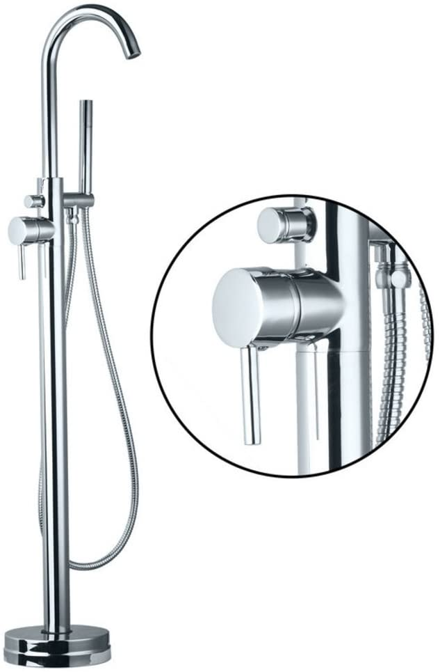 Deluxe Floor-Standing tap/Shower Bath Shower Set/Brass Faucet hot and Cold Shower-A