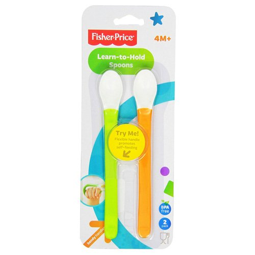 Fisher-Price Wrap Around Spoons, 2-Count (Discontinued by Manufacturer)