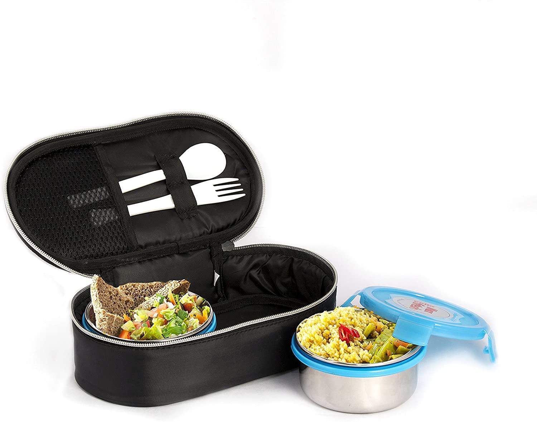 Cello Max Fresh Click Steel Lunch Box Set, 300ml, Set of 2