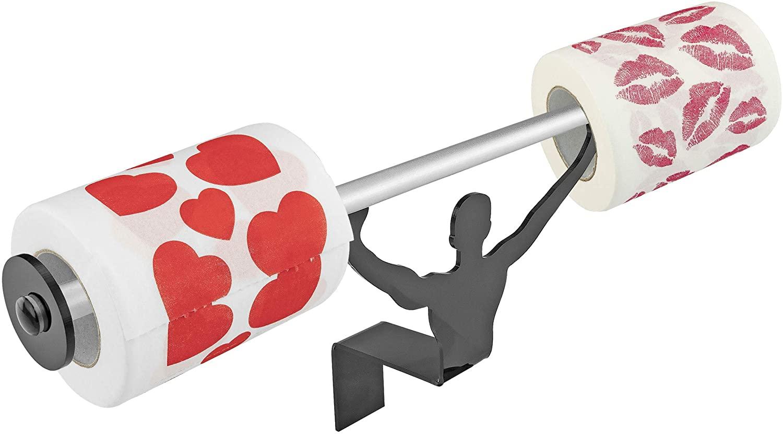 Fairly Odd Novelties FON-10160 Valentines Hearts Kisses Toilet Paper W/Strong Man Holder Gift Set