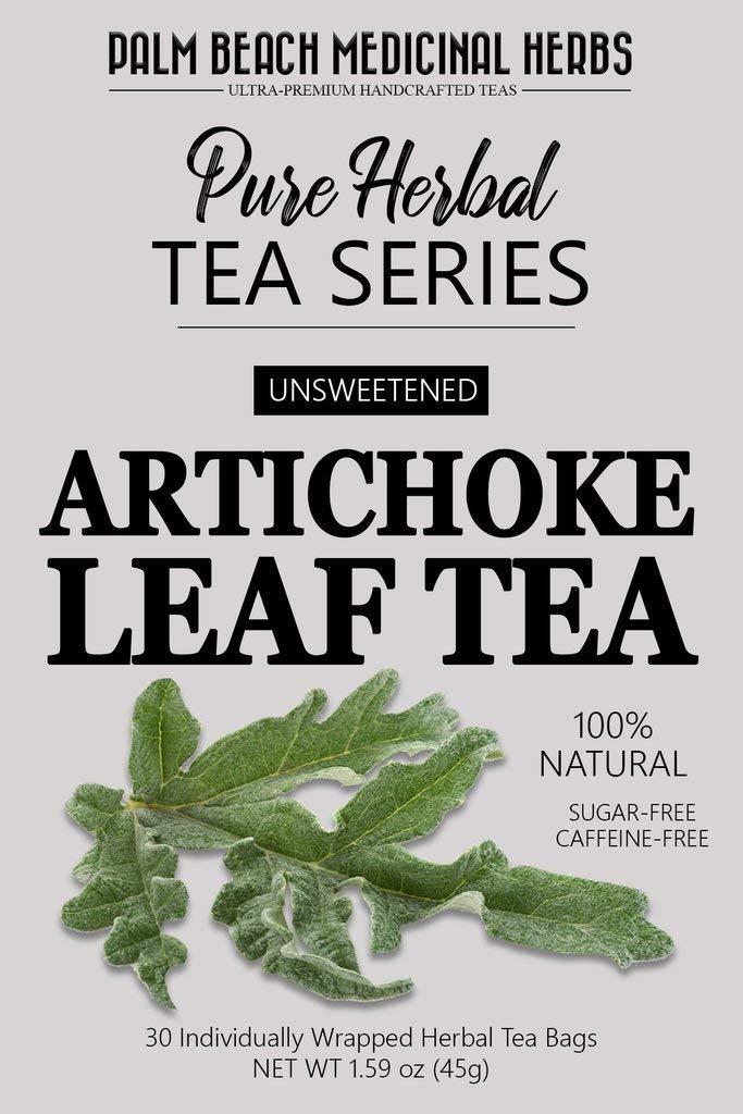 Artichoke Leaf Tea - Pure Herbal Tea Series by Palm Beach Medicinal Herbs (30 Tea Bags) 100% Natural