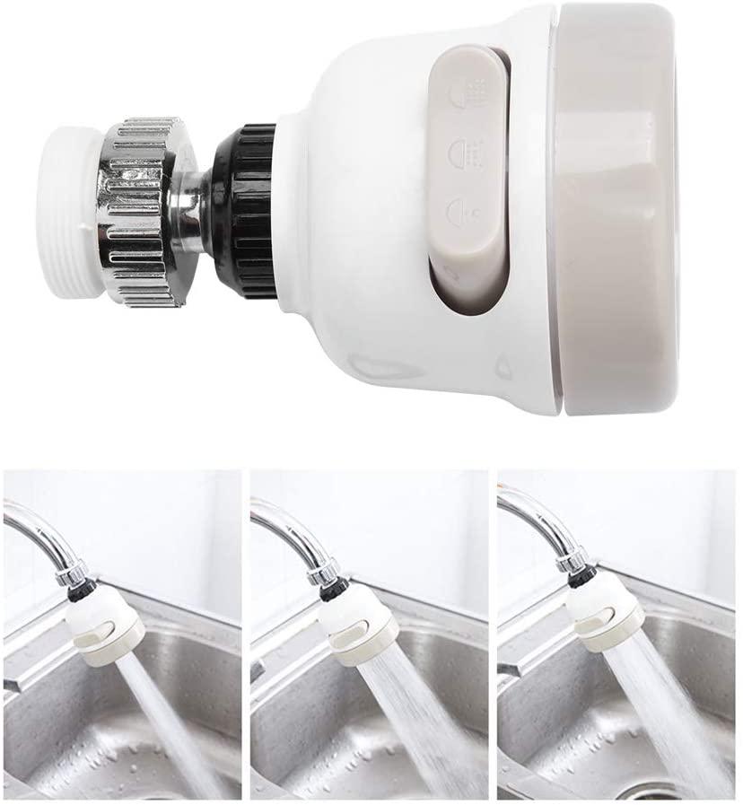 Qii lu Water Saving Faucet, 360°Rotatable Faucet Nozzle Adjustable Anti Splash Water Filter for Kitchen Faucet, Sink Faucet, BathroomFaucet