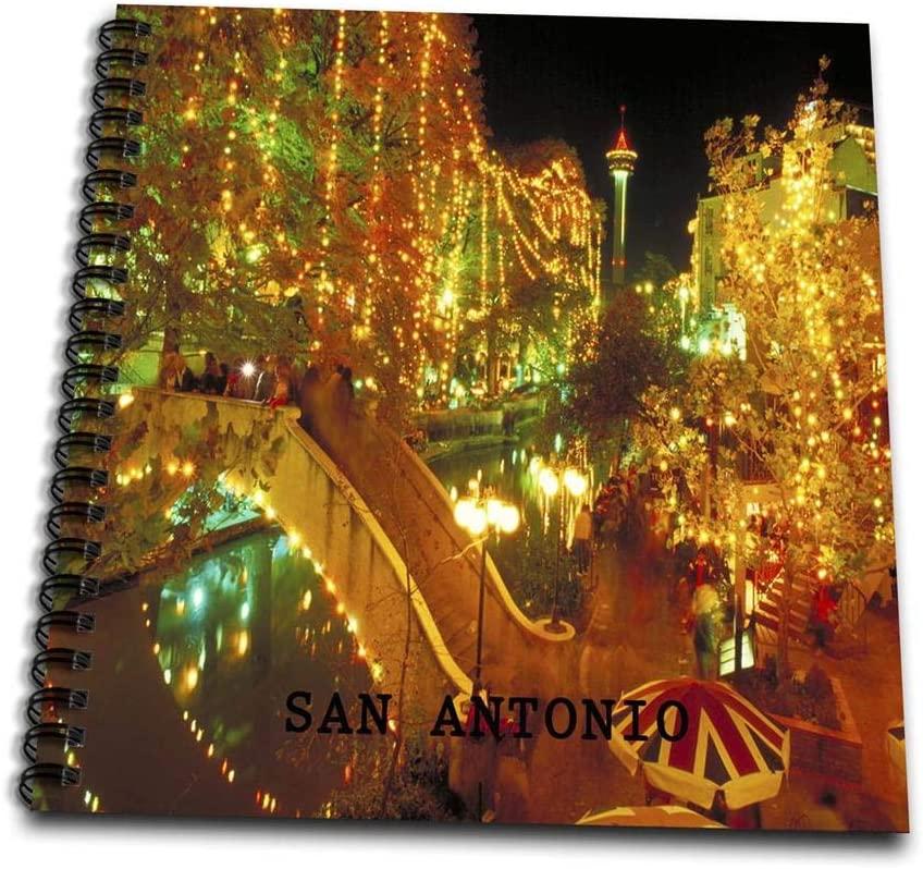 3dRose db_62235_2 Beautiful San Antonio Riverwalk at Night-Memory Book, 12 by 12-Inch