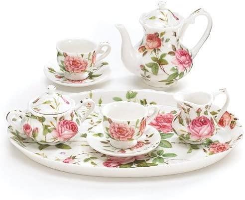 Burton & Burton 8 Piece Porcelain Mini Saddlebrooke Tea Set