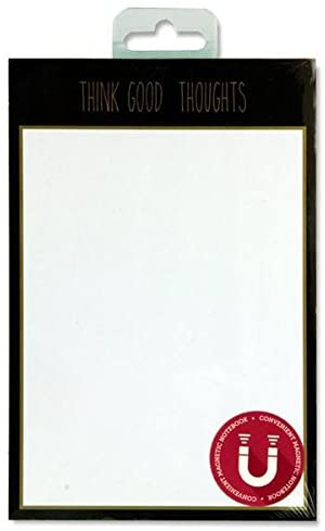 Premier Stationery G3816768 50 Sheets I Love Stationery 'Think Good Thoughts' Magnetic Things to Do Notepad