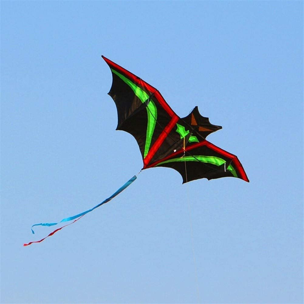 LILIANG Kite, Kids Kite Beautiful Kites for Kids Easy to Fly for Beach Outdoor Quality Tearproof Lightning Bats Breeze (Color : Kite with 100m line)