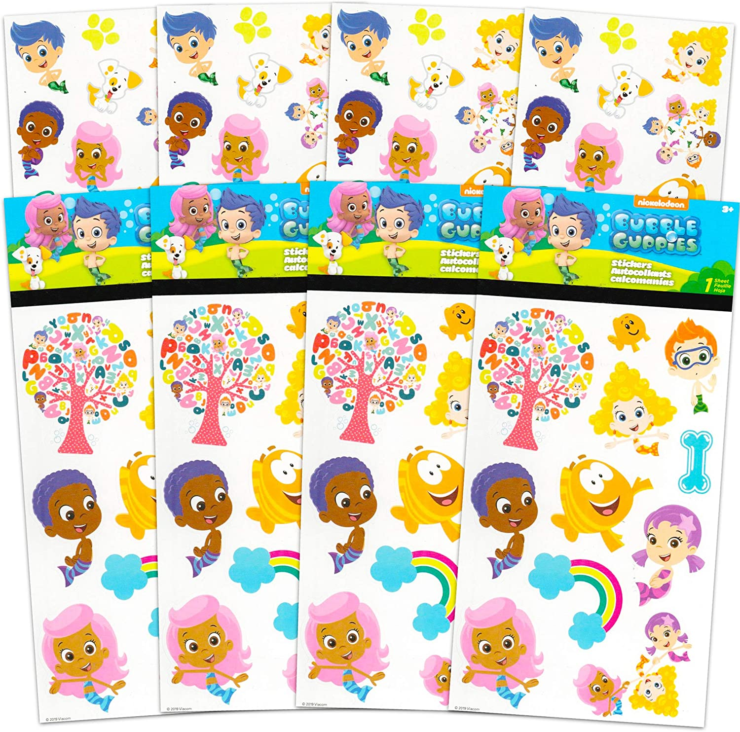 Bubble Guppies Stickers Party Favors Bundle ~ 8 Sheets Bubble Guppies Stickers Featuring Nonny, Molly, Gil, and More (Bubble Guppies Party Supplies)