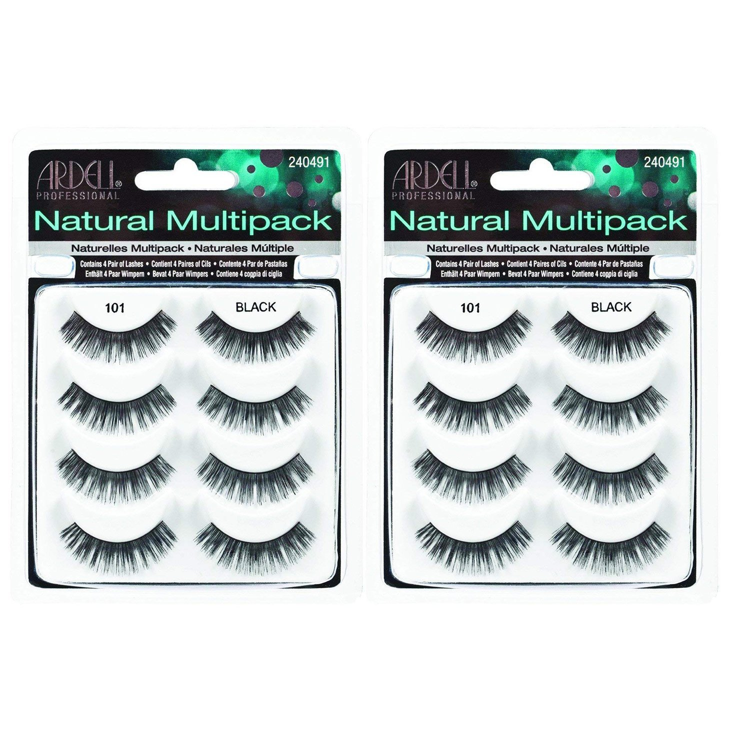 Ardell Natural Multipack Lashes - #101 Black (Pack of 2)