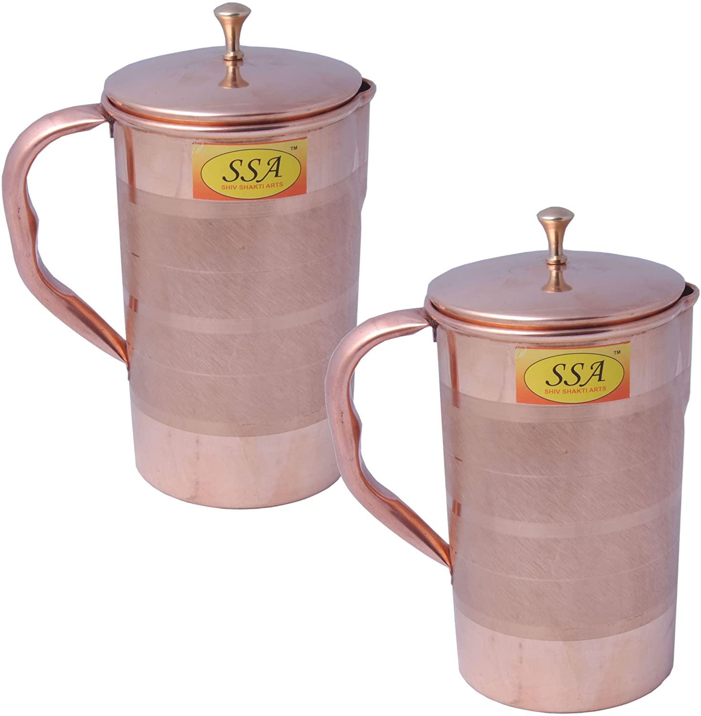 SHIV SHAKTI ARTS Handmade Copper Luxury Jug No 4 Set Of 2