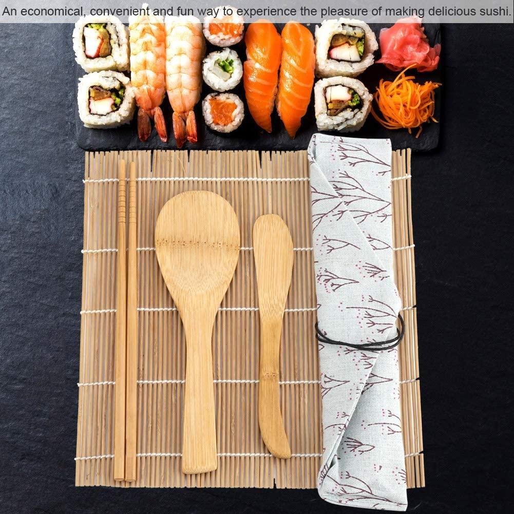 Pangding Sushi Tool, 9Pcs/Set Bamboo Sushi Making Kit