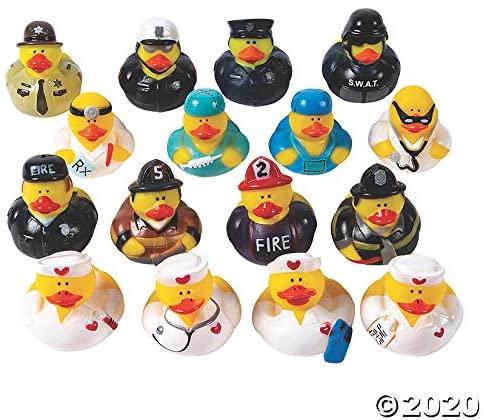 Community Helper Rubber Duckies Assortment - Toys - 48 Pieces