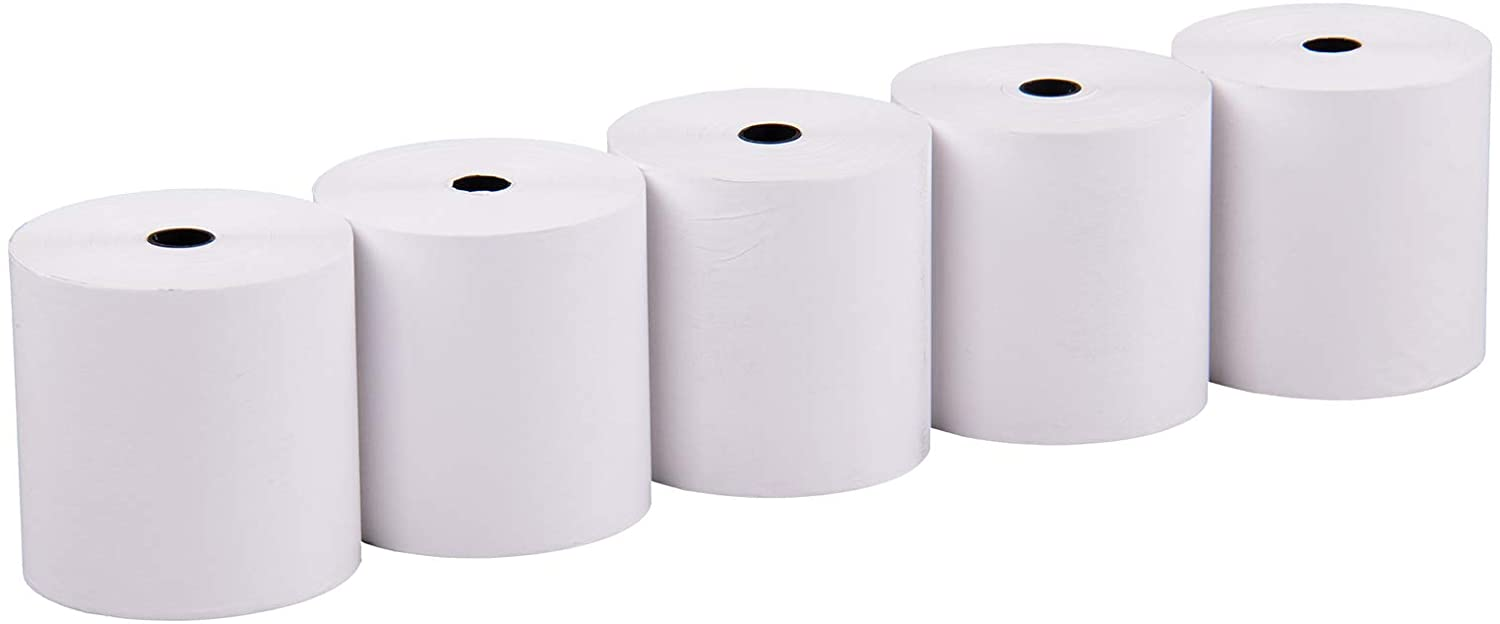 Veit 09052005 Thermal Rolls 80-88/80 m Diameter Approx. 8 cm Blank Pack of 5 for Epson TM-T 80 to 88