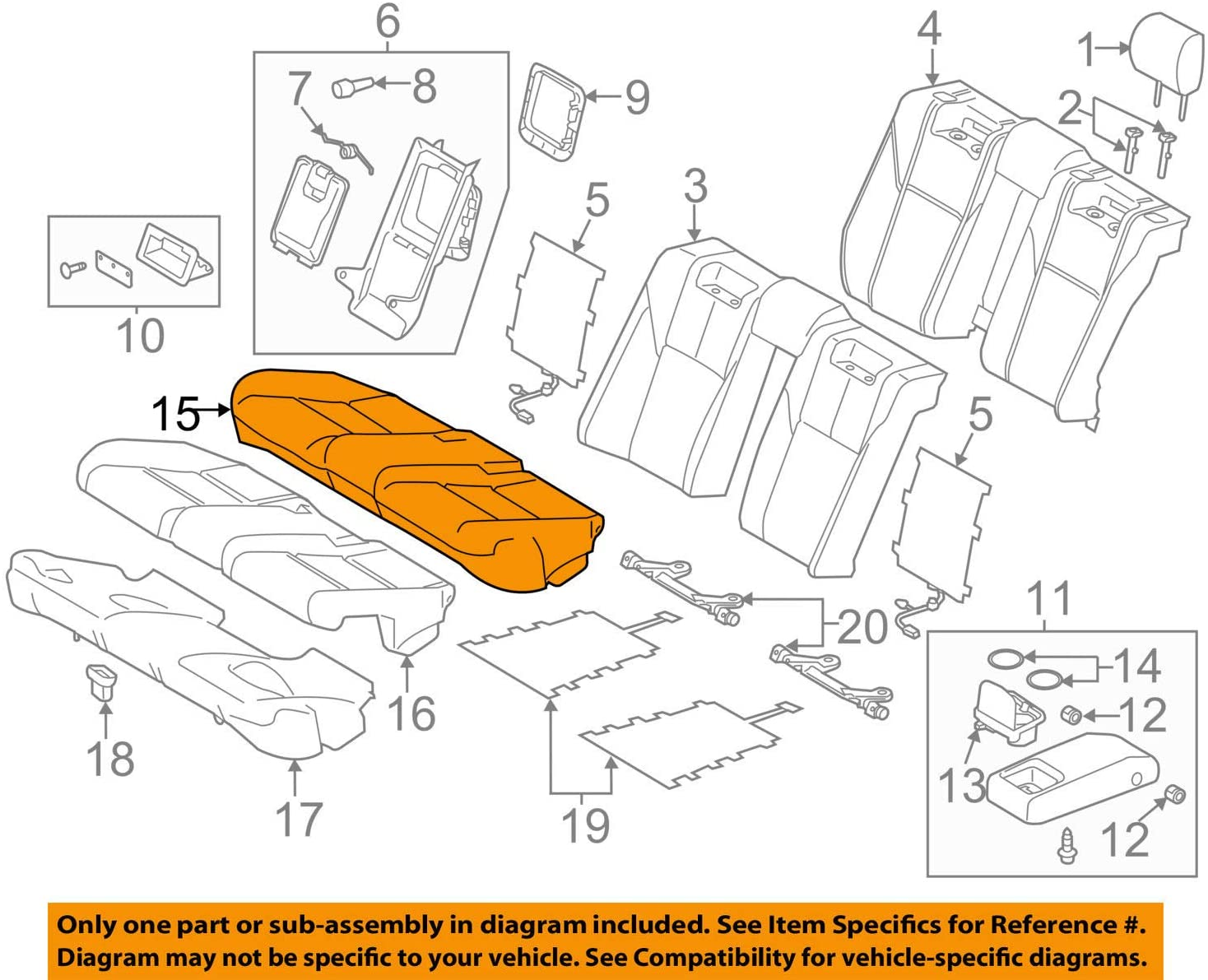 TOYOTA Genuine 71075-07110-C4 Seat Cushion Cover