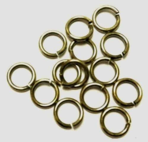 18 Ga Vintage Brass 9 Mm O/d Jump Ring 170 P. 1 Oz Saw-cut Made in USA