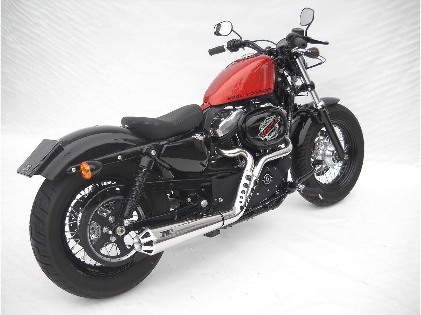 Motorize ZARD Complete System Harley-Davidson Sportster, 04-13, Stainless Steel, cat.