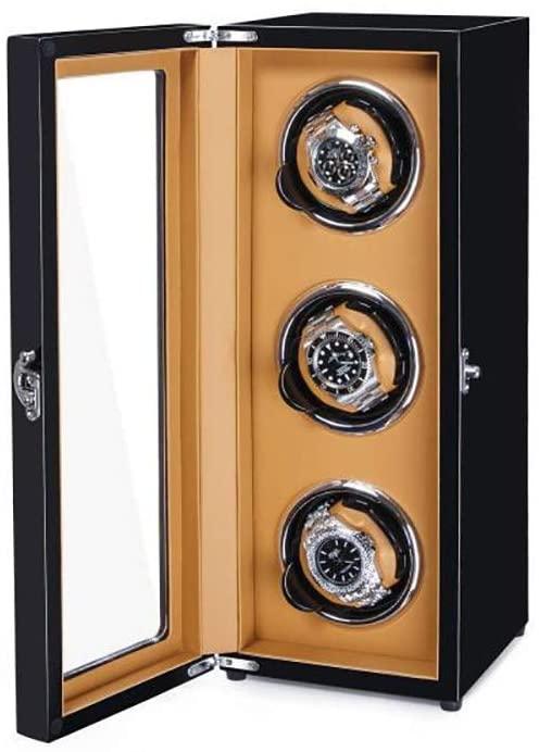 Xihouxian Watch Shaker, High-end Watch Shaker, Mechanical Watch Self-Winding Antimagnetic Watch Box, Piano Paint + High Density Pine Board, 390 150 188 Mm Watch Winder