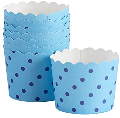 YingYing Home White Background Black Dots Muffin Cupcake Paper Cups Party Cups Wedding Birthday Party Decoration Disposable Tools