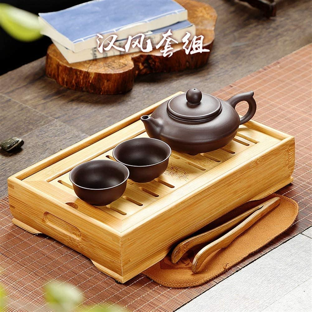 MADONG travel tea tray with a pot of tea purple kung fu tea cups (Color : Hanfeng set)