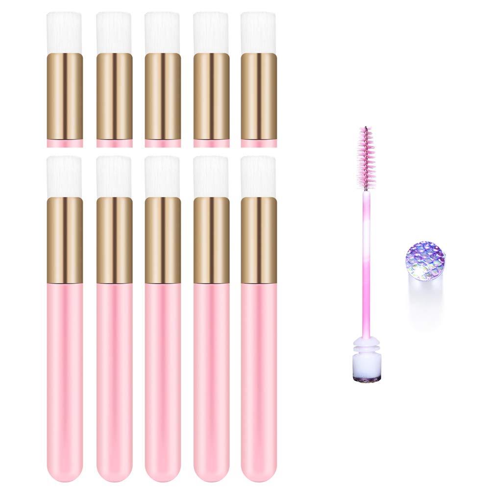 10 Pcs Pink Lash Shampoo brushes Cosmetic Brushes Peel Off Blackhead Brush Remover Tool Nose Cleaning Washing Brush Lash Cleanser Soft Brushes