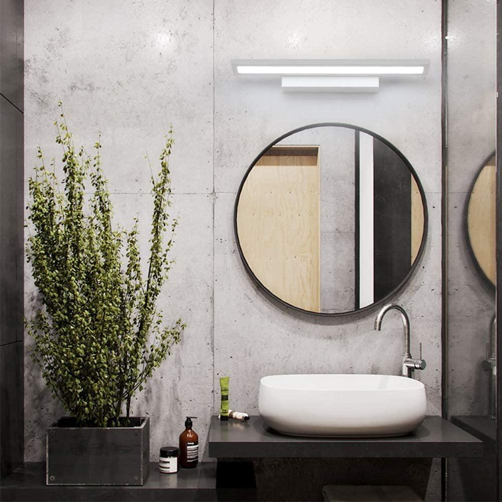 BOSSLV Modern Led Mirror Lamp Wall Wash Lamp, 20W White Wall Light with Iron Acrylic Simple Spot Light Hallway Restroom Bathroom-40Cm Warm White