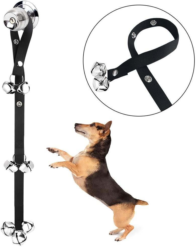 Kytely Upgrade Dog Doorbells, Potty Great Dog Bells for Dog/Potty Training, Housebreaking, Adjustable Puppy Bells for Training Puppies, Doggy/Doggies, Pooch - Premium Quality - 7 Extra Large Doorbells