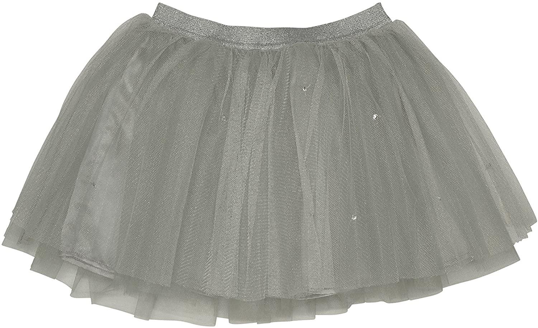 Kate Mack Girl's 7-16 Style Prodigy Netting Skirt, Silver - Size 10