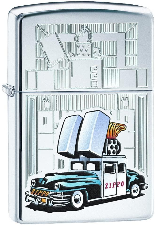Zippo Car & Building Lighter, High Polish Chrome