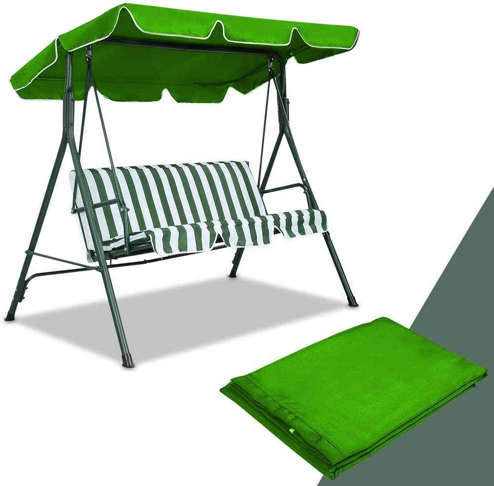 RZiioo Replacement Canopy for Swing Seat 2 & 3 Seater Sizes Hammock Cover Top Garden Outdoor, Replacement Canopy Top Cover
