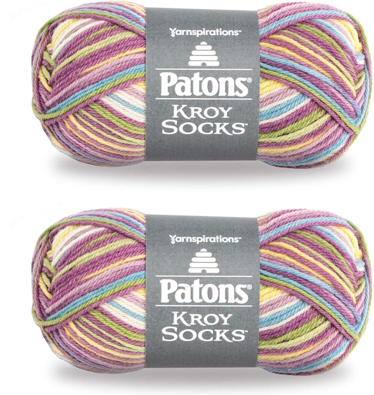 Patons Kroy Socks Yarn, 2-Pack, Sweet Stripes