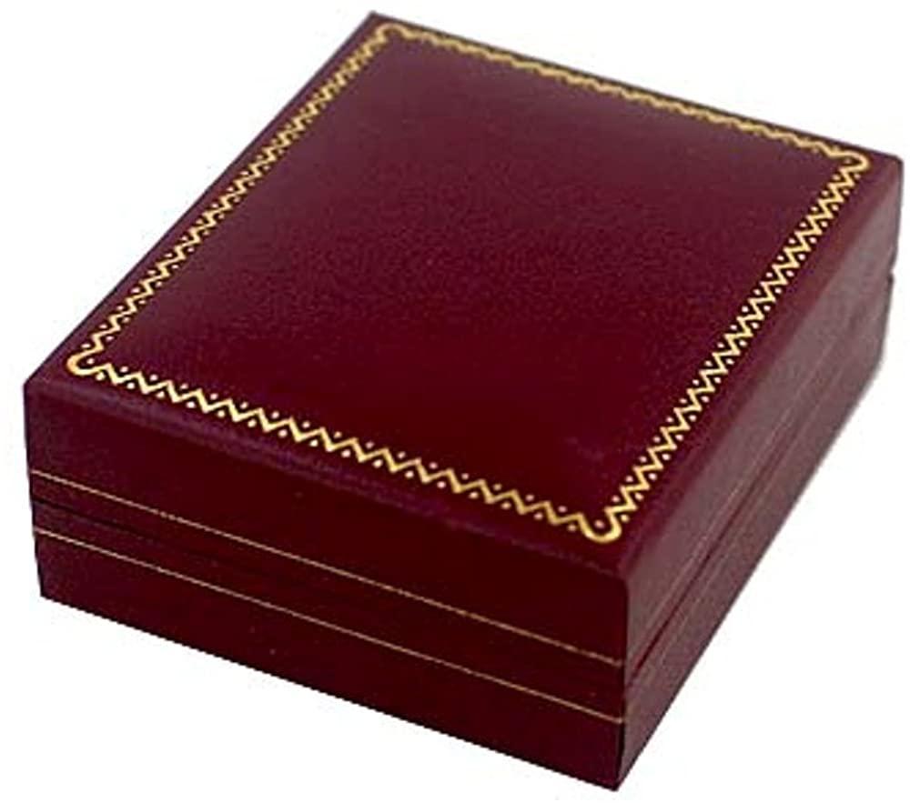 EARRING/PENDANT leatherette JEWELRY BOX-GREEN HINGED