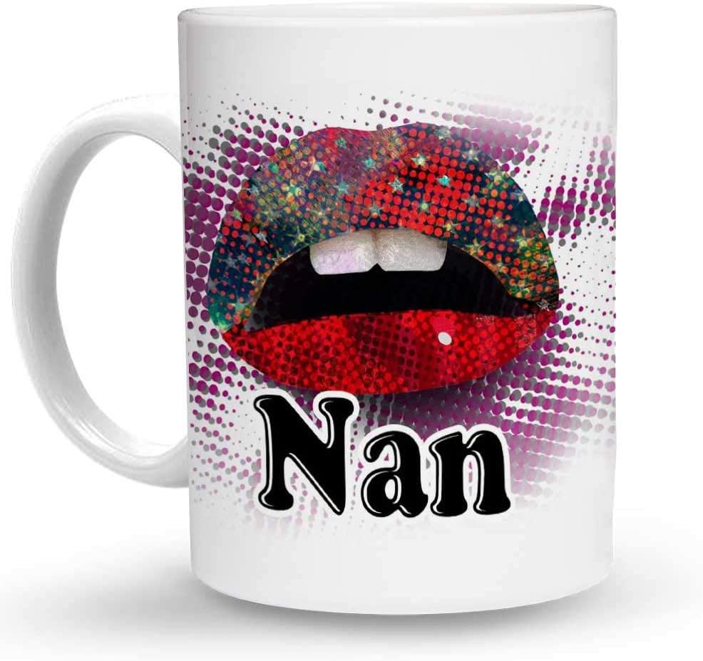 Makoroni - Nan Female Girl Name 6 oz Ceramic Espresso Shot Mug/Cup Design#67