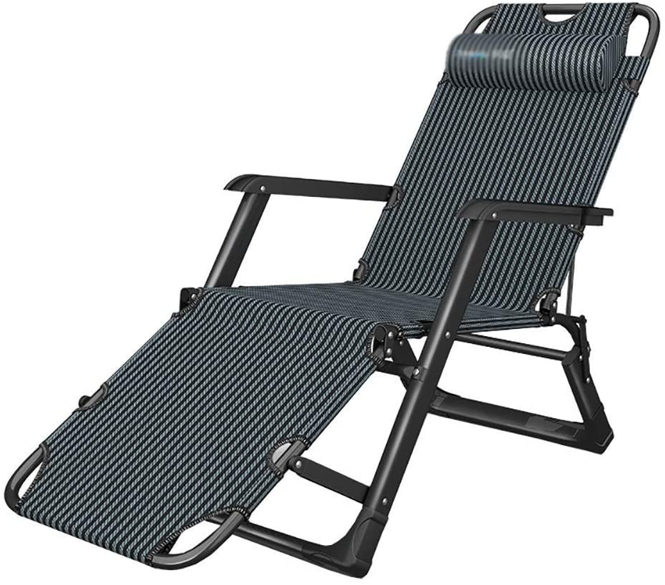 Recliner Adjustable Zero Gravity Lounge Chair for Heavy People Folding Recliners Chairs for Patio, Pool, Balcony, Office, Support 200kg