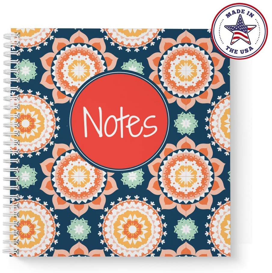 Softcover Modern Floral Notes 8.5