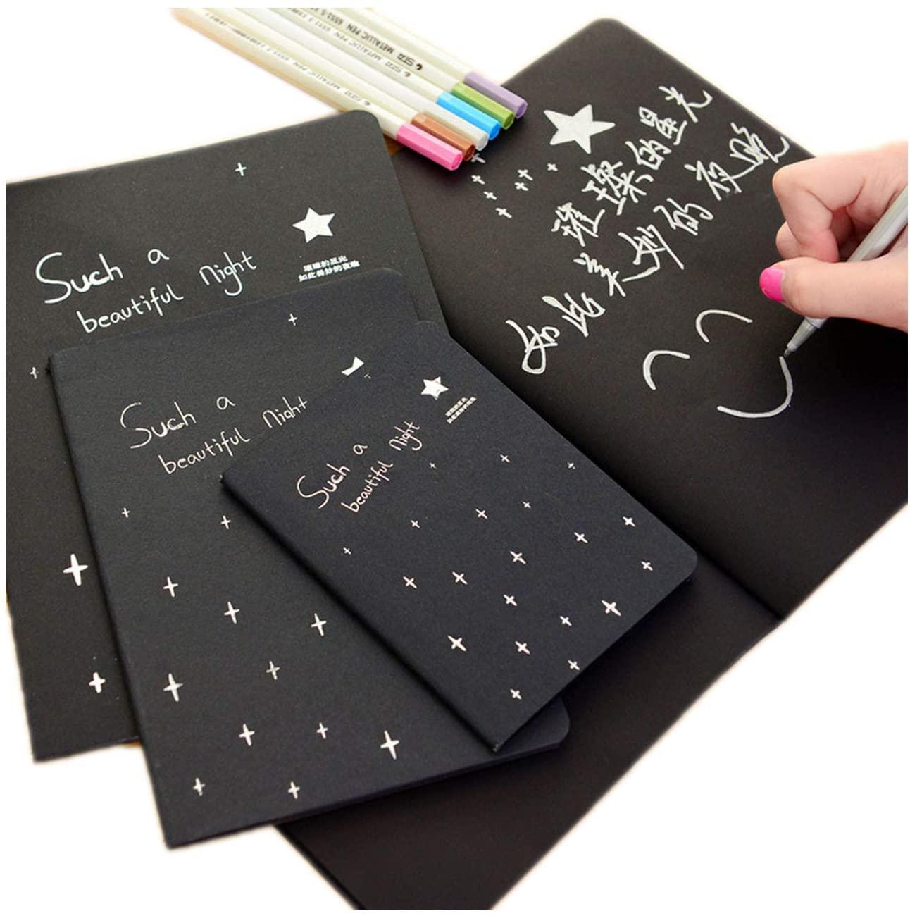 Notebook Diary Black Paper Notepad 16k 32k 56k Sketch Graffiti Notebook Office School Stationery Gifts,A5