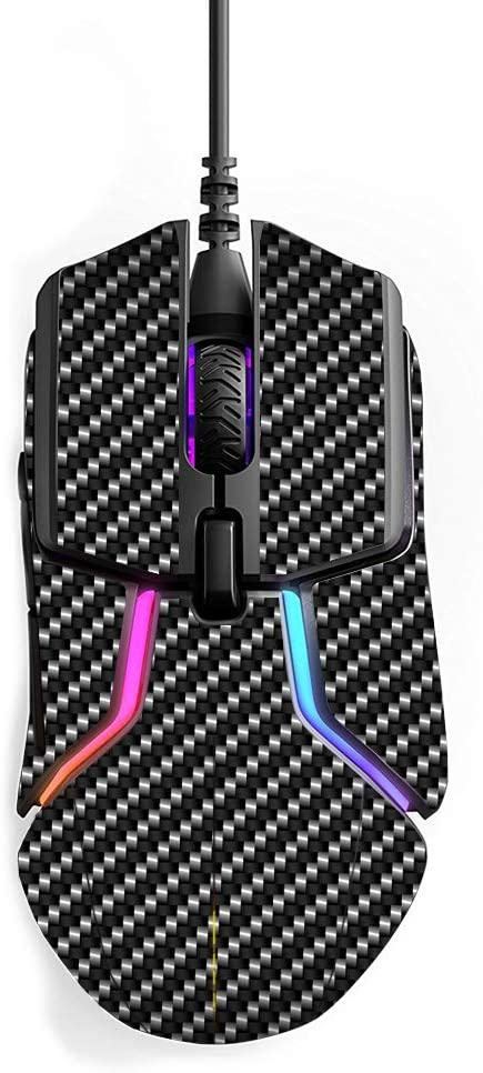 MightySkins Skin Compatible with SteelSeries Rival 600 Gaming Mouse - Carbon Fiber | Protective, Durable, and Unique Vinyl wrap Cover | Easy to Apply, Remove, and Change Styles | Made in The USA