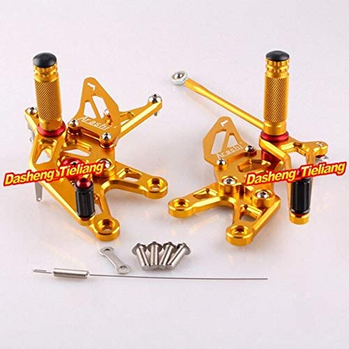 Frames & Fittings Adjustable Rear Set Foot Pegs Footrest Assembly for Kawasaki Ninja ZX10R ZX-10R 2006 2007 Motorcycle Replacement Accessories - (Color: Gold)