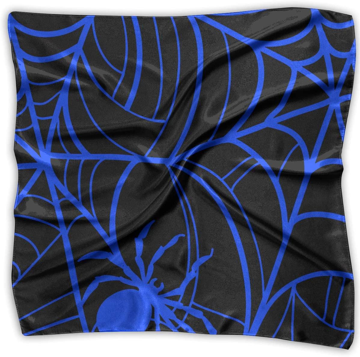 WFIRE Spider Web Glow in The Dark Square Handkerchiefs Scarf Shawl Bandanas Headscarf Neckerchief Tie Hair Scarf