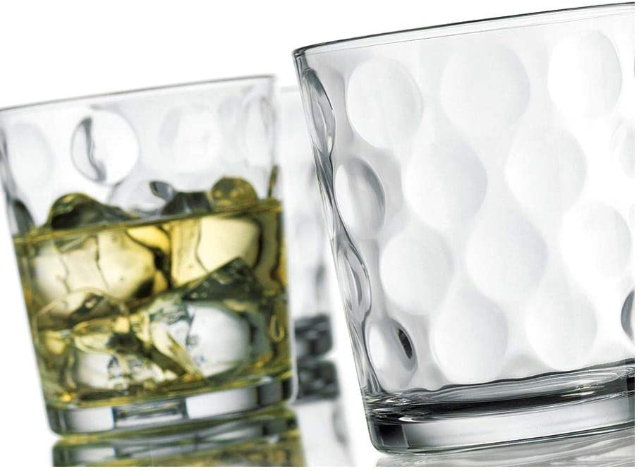 Home Essentials & Beyond Eclipse DOF Double Old Fashion Glass, Clear