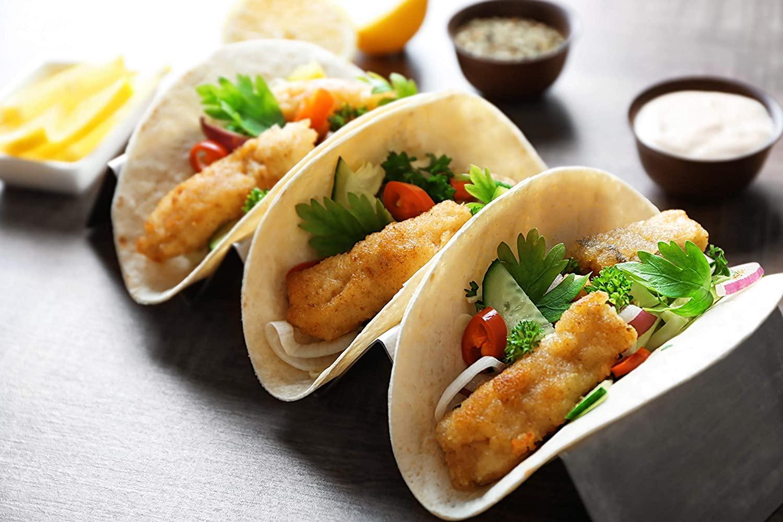 Taco Holder, Free Taco Brush,Taco Night, Mexican Tacos, Taco Server, Restaurant Quality, Taco Baking Rack, Taco Warmer. Stainless Steel Taco Holder, Taco Tray Server, Tortilla Warmer